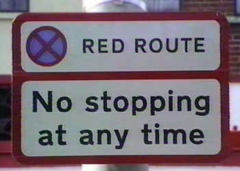 Red Route, No stopping at any time